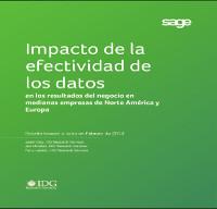 Estudio IDG: Impacto de la efectividad de los datos en los resultados del negocio