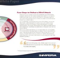 Cuatro pasos para derrotar un ataque DDoS