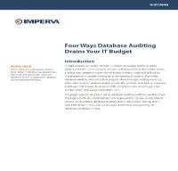 Cuatro formas en las que la auditoría de base de datos drena su presupuesto IT