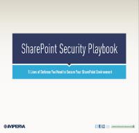 5 líneas de defensa que necesita para proteger su entorno Sharepoint