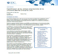 Cuantificación de las ventajas empresariales de las soluciones Red Hat Enterprise Linux