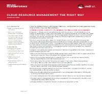 La forma correcta de gestionar los recursos cloud