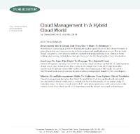 Gestión cloud en un mundo cloud híbrido