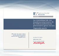 La viabilidad de las implementaciones de la videoconferencia personal a gran escala