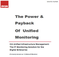 El poder y la recuperación de inversión de la Monitorización Unificada