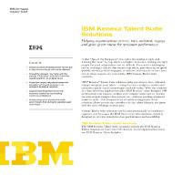 IBM Kenexa Talent Suite