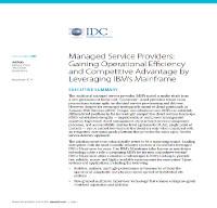 Proveedores de servicios gestionados: Consiguiendo eficiencia operacional y ventaja competitiva gracias al Mainframe de IBM