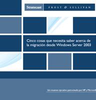Cinco cosas que necesita saber acerca de la migración desde Windows Server 2003