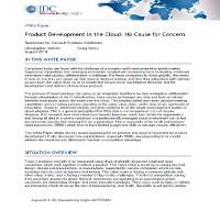El desarrollo de productos en la nube: Ningún problema