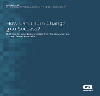Como transformar el cambio en éxito