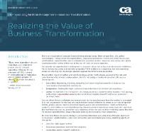 El valor de la transformación de negocio