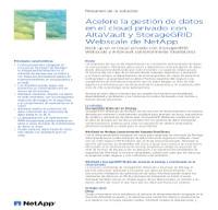 Acelere la gestión de datos en el cloud privado con AltaVault y StorageGRID Webscale de NetApp