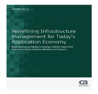Redefiniendo la gestión de la infraestructura la para la economía de aplicaciones actual