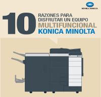 10 Razones para disfrutar un equipo multifuncional Konica Minolta – Infografía