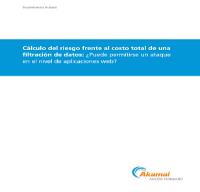Cálculo del riesgo frente al costo total de una filtración de datos