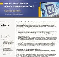 Informe sobre defensa frente a ciberamenazas 2015