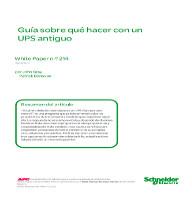 Guía sobre qué hacer con un UPS antiguo