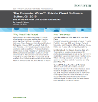 The Forrester Wave™: Private Cloud Software Suites, Q1 2016