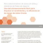 Uso del almacenamiento flash para impulsar el rendimiento y la eficiencia en las bases de datos Oracle