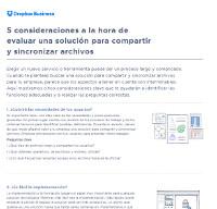 5 consideraciones a la hora de evaluar una solución para compartir y sincronizar archivos