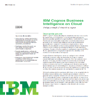 IBM Cognos Business Intelligence on Cloud