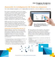 IBM Cognos Analitycs. Aumente la inteligencia de toda su empresa
