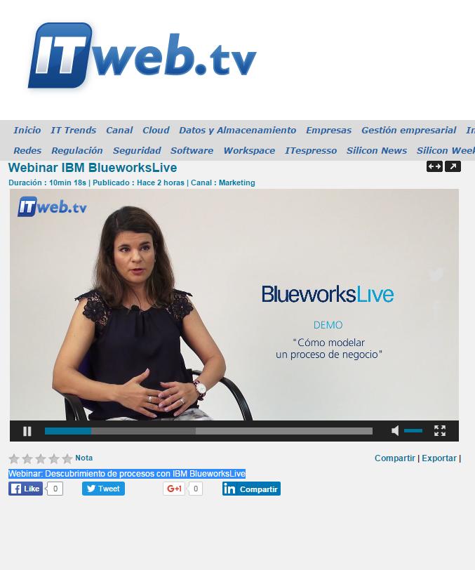 Webinar IBM BlueworksLive