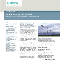 Caso de éxito de Acciona: Soluciones de Siemens para el diseño de aerogeneradores innovadores y sostenibles