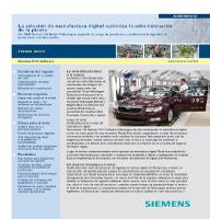 La solución de manufactura digital optimiza la administración de la planta