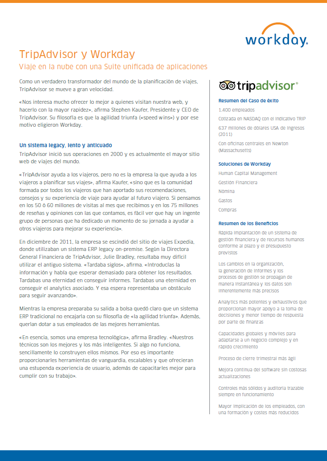 TripAdvisor y Workday