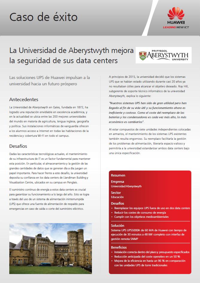 La Universidad de Aberystwyth mejora la seguridad de sus data centers