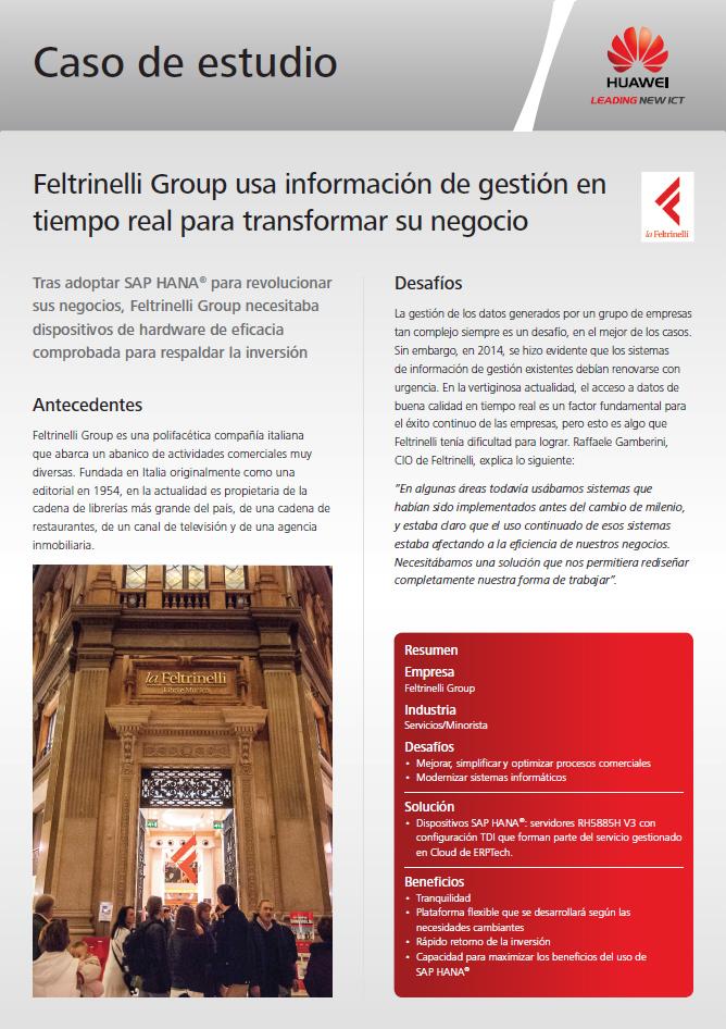Feltrinelli Group usa información de gestión en tiempo real para transformar su negocio