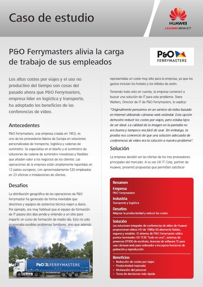 P&O Ferrymasters alivia la carga de trabajo de sus empleados