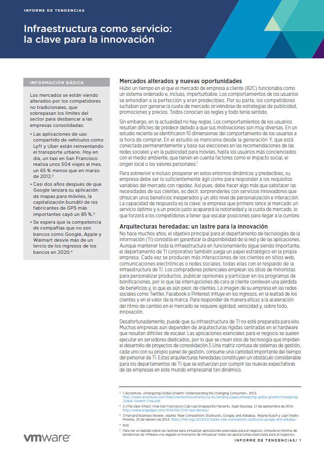 Infraestructura como servicio: la clave para la innovación