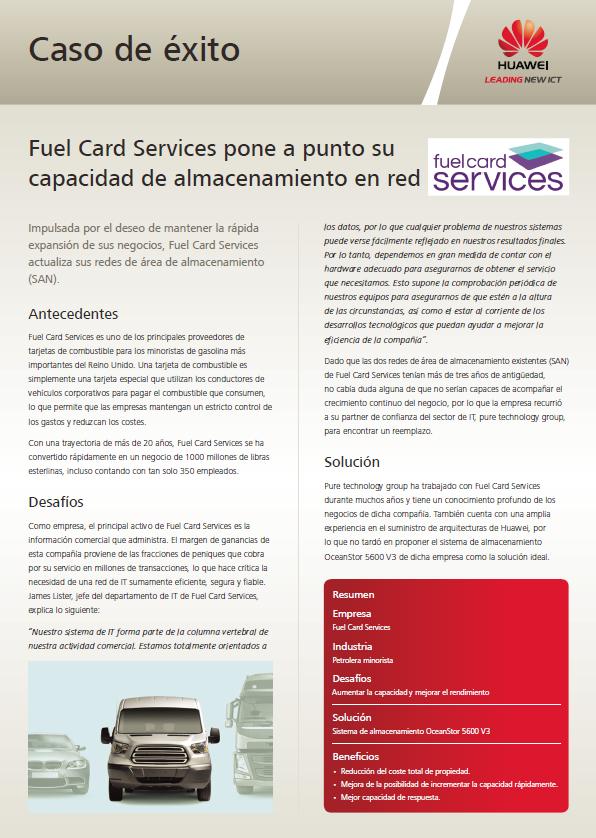 Fuel Card Services pone a punto su capacidad de almacenamiento en red