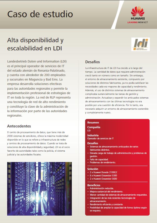 Alta disponibilidad y escalabilidad en LDI