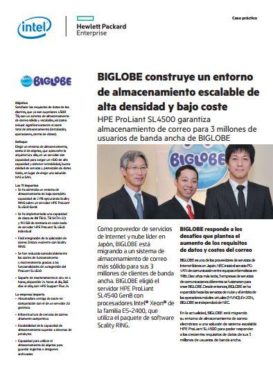 BIGLOBE construye un entorno de almacenamiento escalable de alta densidad y bajo coste