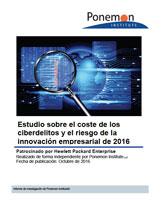 Estudio sobre el coste de los ciberdelitos y el riesgo de la innovación empresarial de 2016
