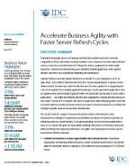 Agilice la actividad empresarial con ciclos más rápidos de actualización de servidores