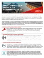 10 Datos sorprendentes sobre protección de datos de VM y Veritas