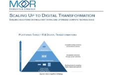 Arquitectura escalable para la Transformación digital