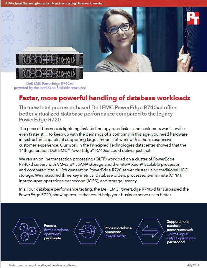 Entrega más eficaz de las cargas de trabajo de la base de datos