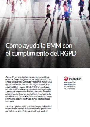 Cómo ayuda la EMM con el cumplimiento del RGPD