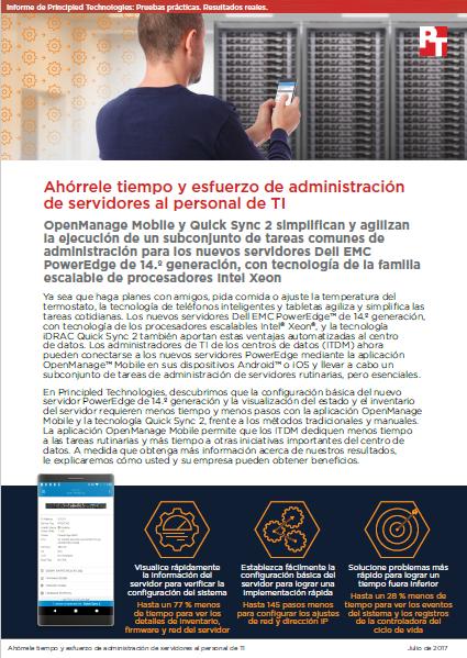 Ahórrele tiempo y esfuerzo de administración de servidores al personal de TI