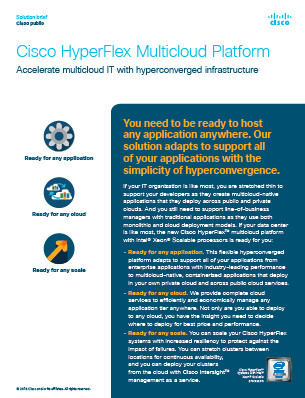 Plataforma Cisco Hyperflex Multicloud