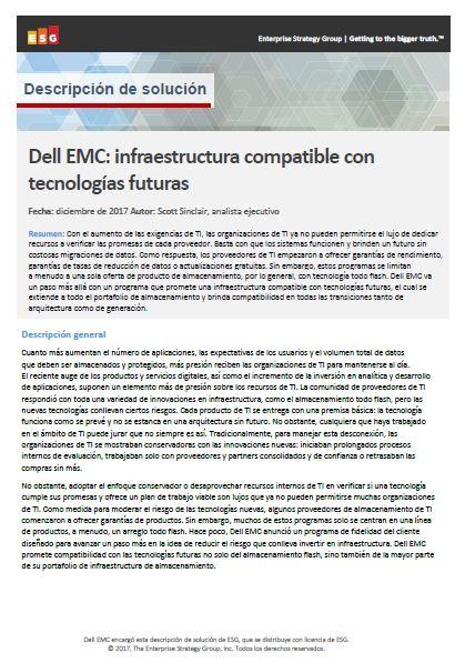 Dell EMC: infraestructura compatible con tecnologías futuras