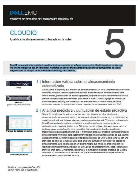 Analítica de almacenamiento basada en la nube – CLOUDIQ