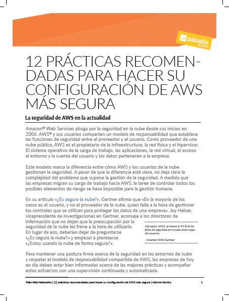 12 prácticas recomendadas para hacer su configuración de AWS más segura