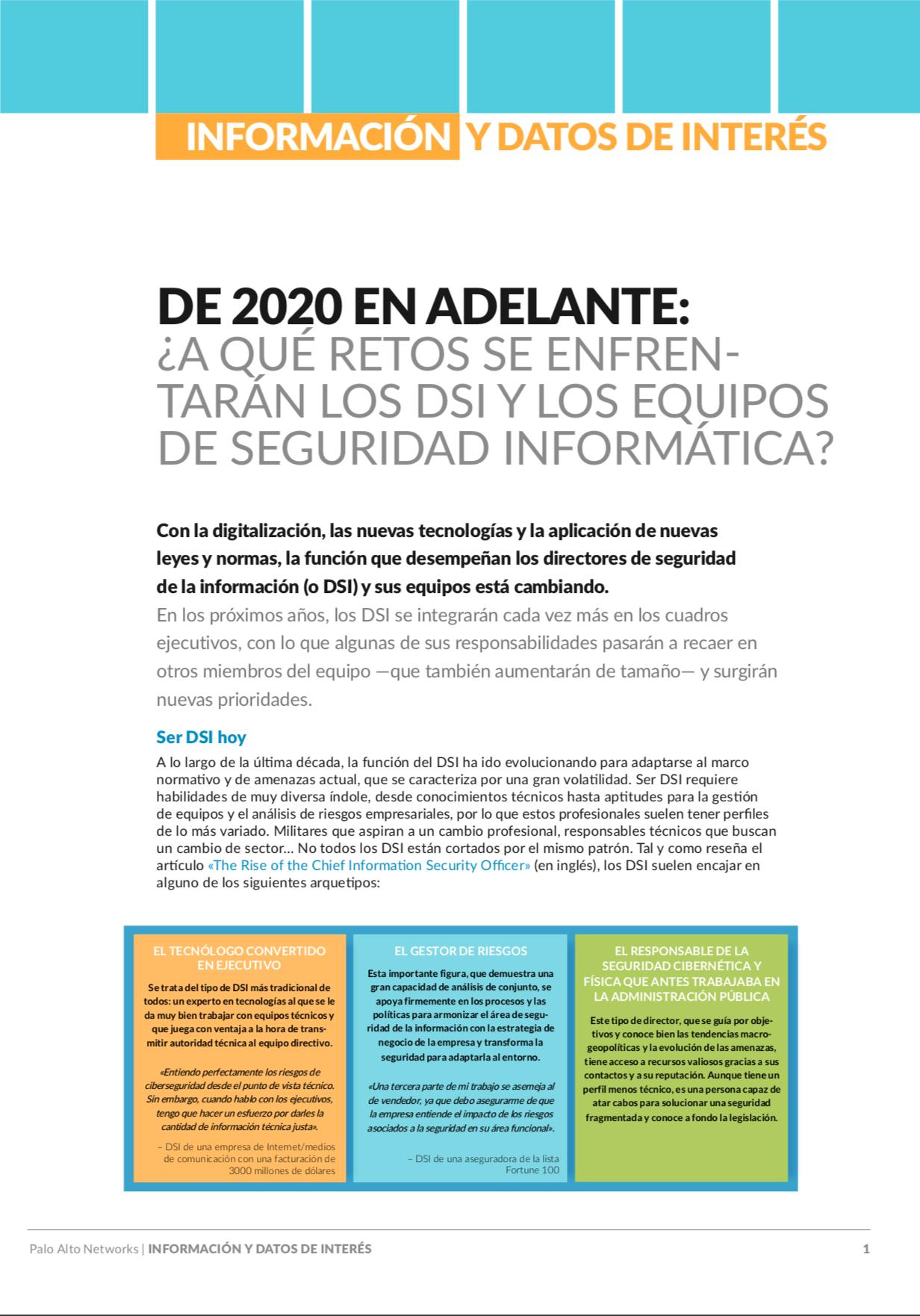 De 2020 en adelante: ¿A qué retos se enfrentarán los DSI y los equipos de seguridad informática?