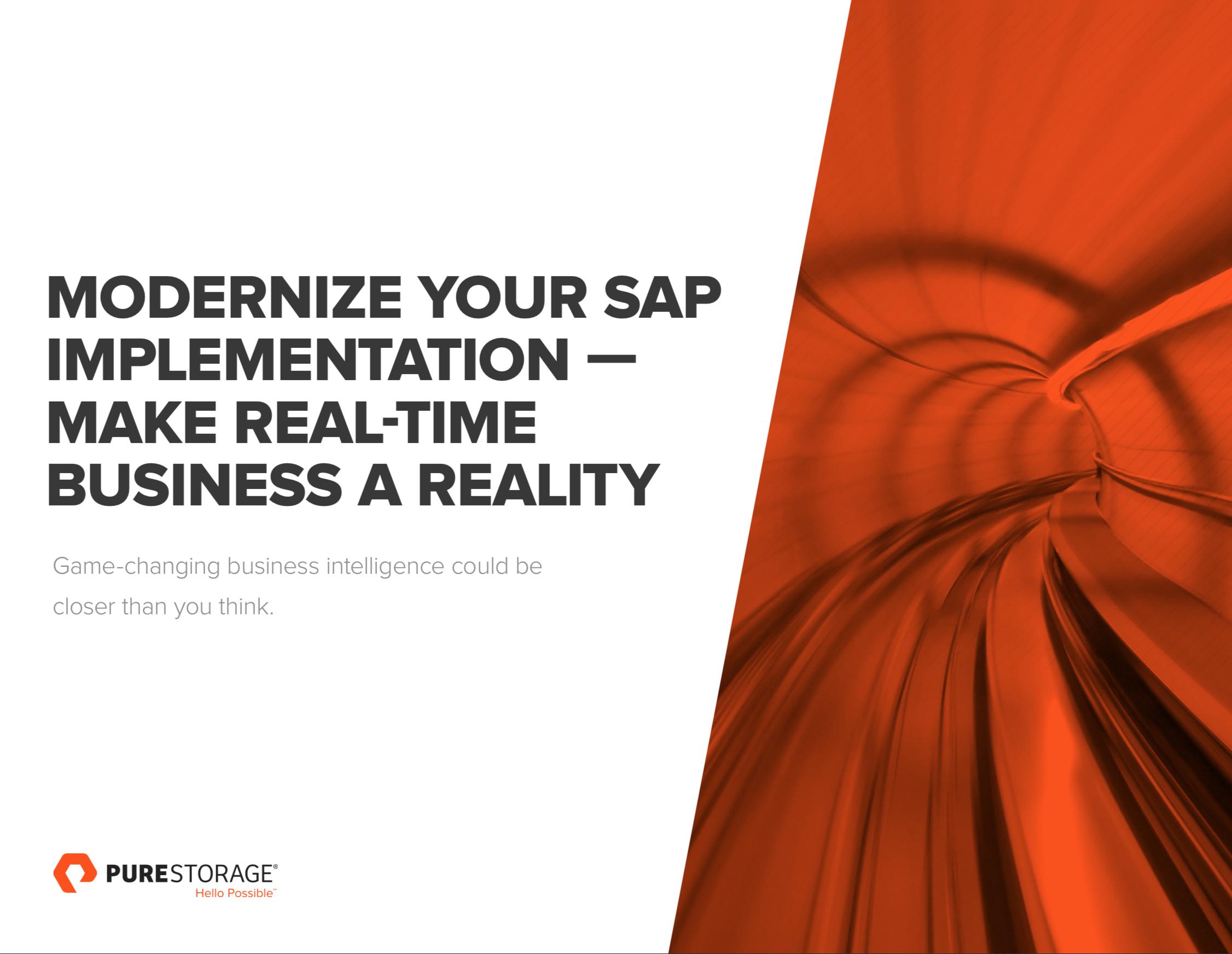 Modernice su implementación de SAP | Haga que el negocio en tiempo real sea una realidad